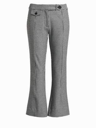 Derek Lam 10 Crosby Flannel Plaid Crop Flare Trousers