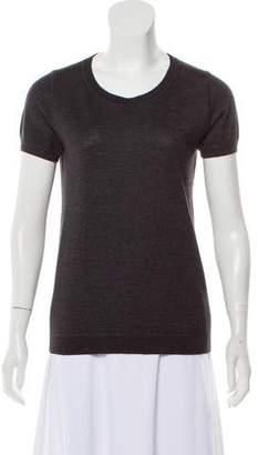 Loro Piana Cashmere & Silk Short Sleeve Top