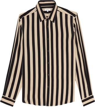 Reiss Kase - Striped Long Sleeved Shirt in Black/natural