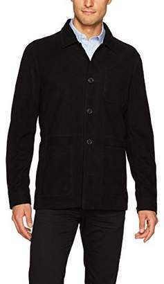 Bugatchi Men's Safari Suede Tapered Fit Four Button Jacket