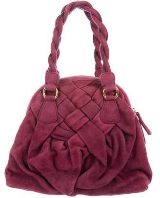 Valentino Braided Leather Tote