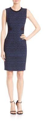 Elie Tahari Dorian Lace Applique Sheath Dress $468 thestylecure.com