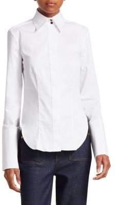 Khaite Cristina Cotton Fitted Shirt