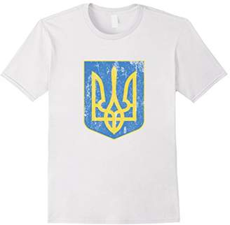 Ukrainian Flag Ukraine Coat Of Arms Kiev Ukrainy T Shirt