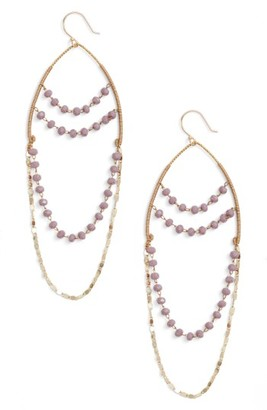 Women's Serefina Beaded Chandelier Drop Earrings $75 thestylecure.com