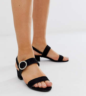 94903869d3d Simply Be Extra Wide Fit Simply Be extra wide fit Isabel block heeled sandal  in black