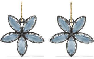 Larkspur & Hawk - Sadie Astra Rhodium-dipped Quartz Earrings - Gold
