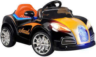 Bugatti Dwellkids Black & Orange Kids' Ride-On Sports Car