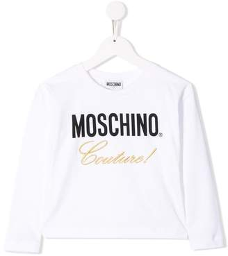Moschino Kids Couture print sweater