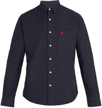 Ami Logo-embroidered cotton shirt
