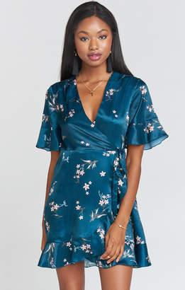 Show Me Your Mumu Evelyn Mini Wrap Dress ~ Pixie Dust Floral Sheen