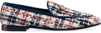 Gucci Jordaan tweed check loafers