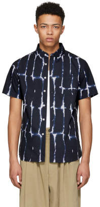 Saturdays NYC Navy Esquina Water Stack Shirt
