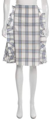 Trademark Ruffled Plaid Skirt w/ Tags