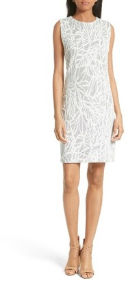 Women's Boss Epalla Embroidered Sheath Dress $325 thestylecure.com