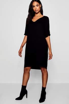 boohoo Tall Turn Cuff Oversized T-Shirt Dress