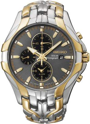 Seiko Men's Two-Tone Excelsior Solar Chronograph Watch