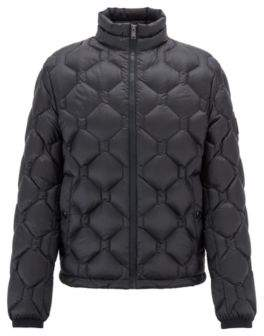 BOSS Hugo Blouson jacket in down-filled quilted technical fabric 38R Open Blue