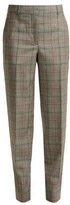 Calvin Klein Wall Street Prince Of Wales Checked Wool Trousers - Womens - Grey Multi