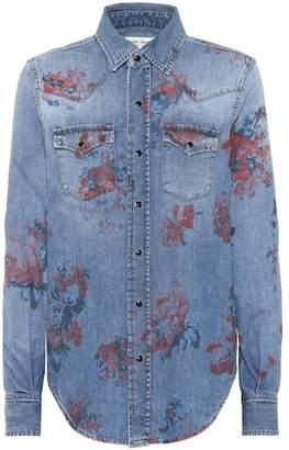 Saint Laurent Floral-printed denim shirt
