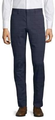 HUGO BOSS Stretch Cotton Windowpane Chino Pants