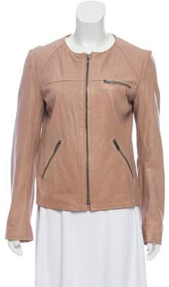 June Tailored Leather Jacket w/ Tags