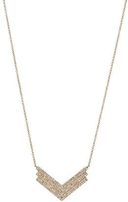 Ef Collection 14K Yellow Gold Pave Diamond Jumbo Shield Pendant Necklace - 0.49 ctw
