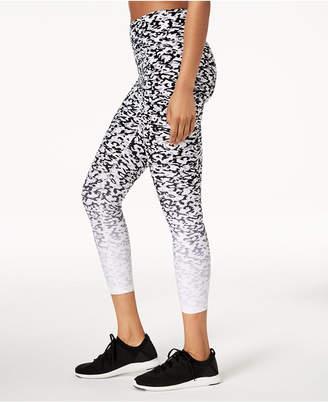 Calvin Klein Ombre Lynx-Print High-Rise Cropped Leggings