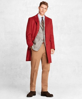 Brooks Brothers Golden Fleece Camel Hair Topcoat