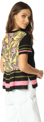 RED Valentino Printed Back Top $595 thestylecure.com