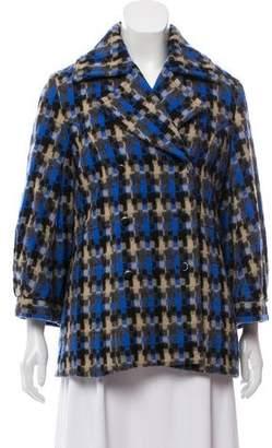 Lela Rose Printed Wool Jacket