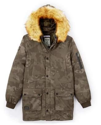 Redskins Hooded Camouflage Parka, 10-16 Yrs