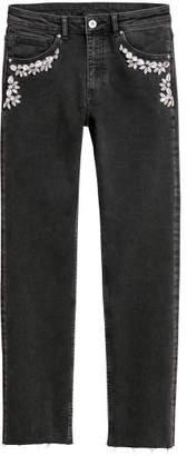 H&M Jeans with Rhinestones - Black