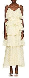 Lisa Marie Fernandez Women's Imaan Dot-Print Cotton Dress - White Pat.