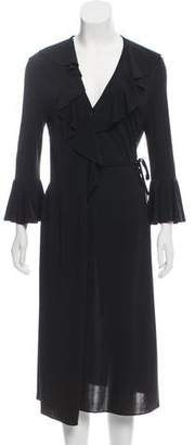 Dolce & Gabbana Ruffle-Accented Maxi Dress