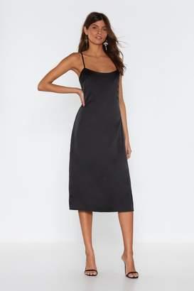 Nasty Gal Cami Slip Midaxi Dress In Plain