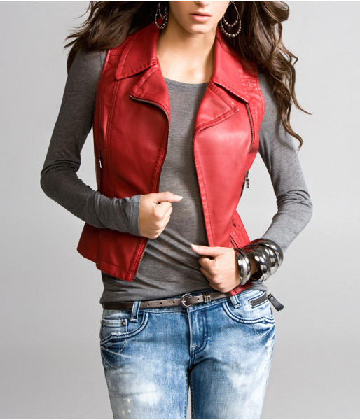 Express (minus The) Leather Vest