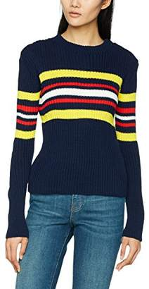 Daisy Street DaisyStreet Women's Jumper, Multicoloured (Navy/White/ Red/Yellow), (Manufacturer Size: UK )