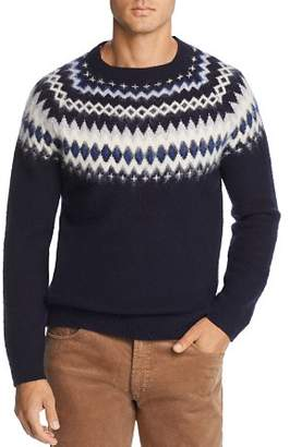 Bloomingdale's The Men's Store at Merino Wool Fair Isle Sweater - 100% Exclusive