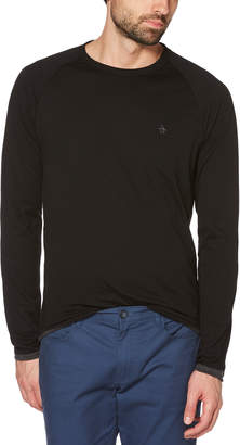 Original Penguin REVERSIBLE LONG SLEEVE TEE