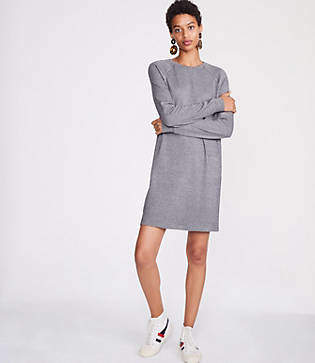 Lou & Grey Houndstooth Sweatshirt Dress
