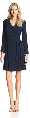 Star Vixen Women's Long-Sleeve Wrap Dress