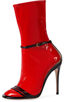 Gucci Ilse Patent 110mm Sandal, Black