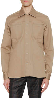 Lanvin Men's Patch-Pocket Shirt Jacket