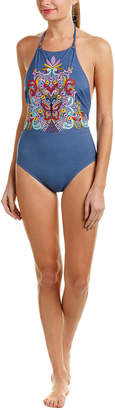 Nanette Lepore Swim Dazed Denim Seductress One-Piece