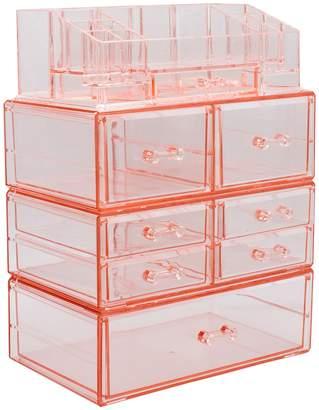 Sorbus Pink Large Makeup Storage Case Set