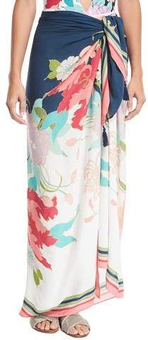 Trina Turk Royal Botanical Pareo Coverup, One Size