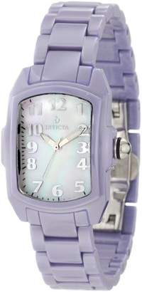 Invicta Women's 1969 Lupah White MOP Dial Baby Blue Ceramic Watch