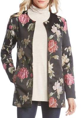 Karen Kane Floral Jacquard Jacket