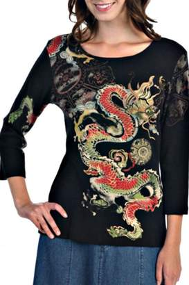 Katina Marie Black Dragon Top